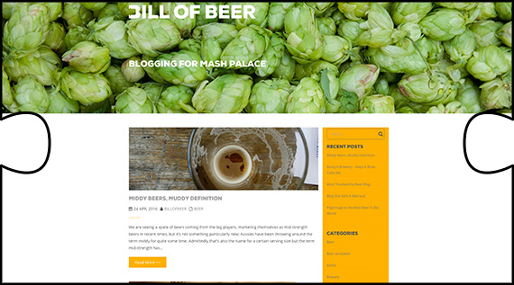 Bill of Beer website to blog about beer and brewing designed and constructed by Jigsaw Design on wordpress